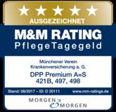 """Morgen& Morgen 2017 - Pflegetagegeld """"Ausgezeichnet"""""""